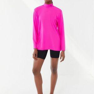 FILA NWT Pink Mesh Mock Neck Tunic